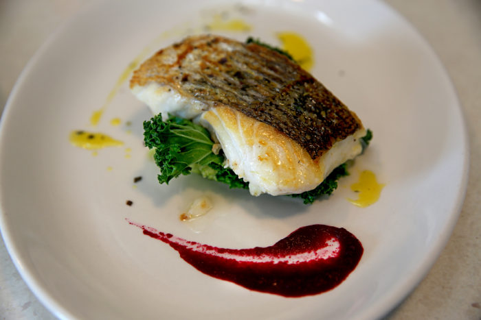 (HAKE FISH DISH)Muireann Nic Giolladh Ruaidh and Martin Bealin run the Dingle Cookery School. The recipes are based on Irish traditional foods, caught and foraged locally, shellfish, mountain lamb. whiskey from the Dingle distillery, free range eggs and local artisan cheeses.